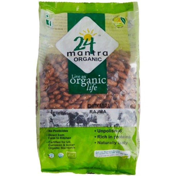 24 Mantra Organic Rajma (Kidney Beans) 4 Lb / 1.8 Kg
