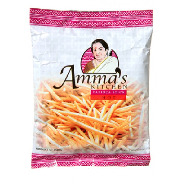 Amma's KitchenTabioca Chips Hot 7 Oz / 200 Gms