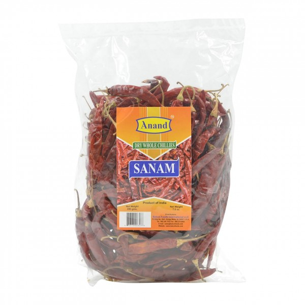 Anand Dry Whole Chilli Sanam 14 / 400 Gms