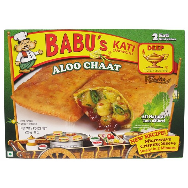 Babu's Kati Aloo Chat 2 Pieces / 226 Gms