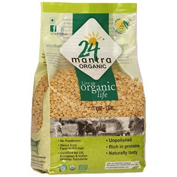 24 Mantra Organic Tur Dal 4 Lb / 1.8 kg