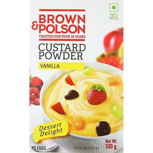 Brown and Polson Custard Powder Vanilla 500 Gms