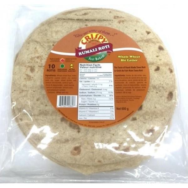 Cripsy Rumali Roti Whole Wheat 10 Pieces