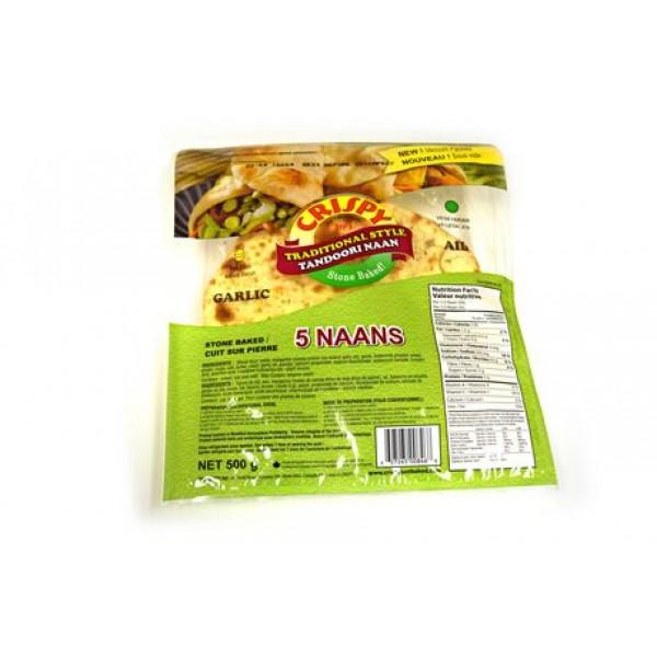 Crispy Garlic Naan 500 Gms / 10 pieces