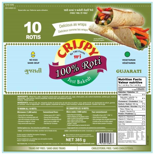 Crispy Gujarati Roti 10 Pieces