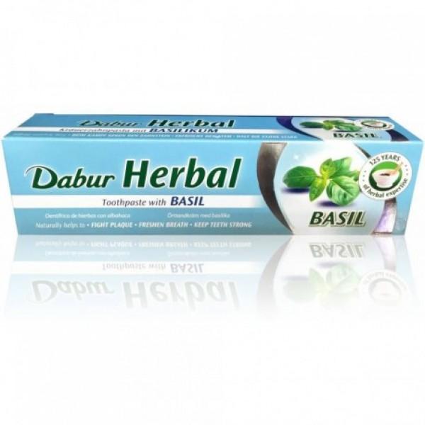 Dabur Basil Herbal Toothpaste 5.43 OZ / 154 Gms