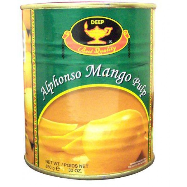 Deep Alphonso Mango Pulp 30 Oz / 850 Gms