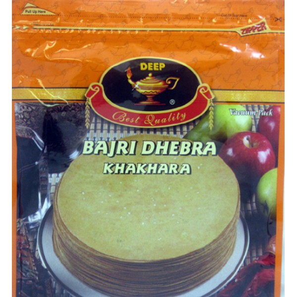 Deep Bajri Dhebra Khakhra 6.3 Oz / 180 Gms