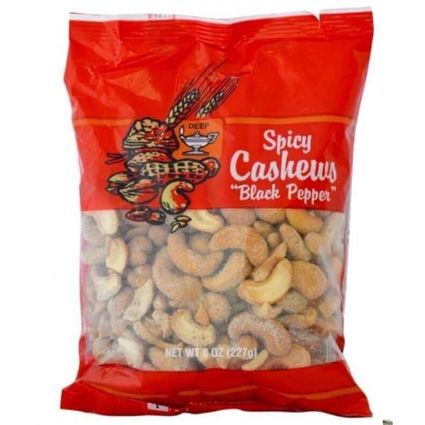 Deep Black Pepper Cashew 8 Oz / 227 Gms