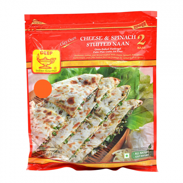 Deep Cheese Spinach Naan 2 Pieces