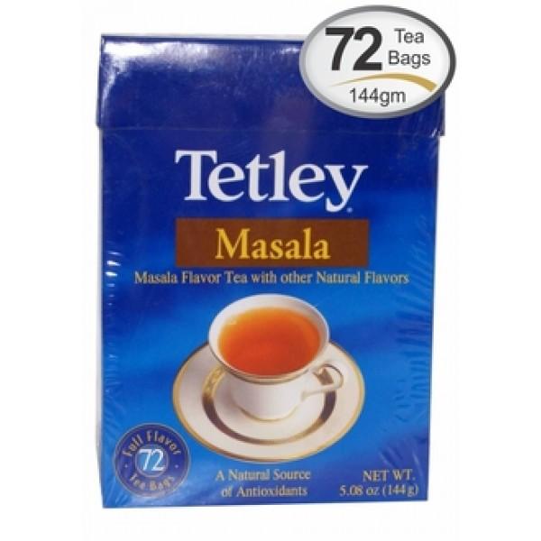 Tetley  Masala  Tea 5.08 OZ / 144 Gms 72 tea bags