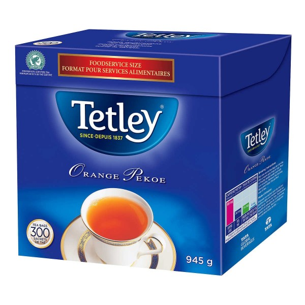 Tetley original Pekoe Premium Black Tea 33.33 oz /945 Gms 300 Tea Bags
