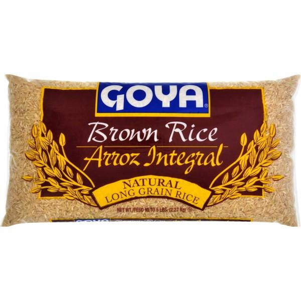 Goya brown Rice Long grain 5lbs/2.27kg