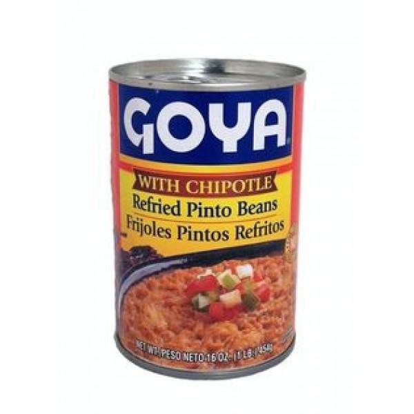 Goya Refried Pinto Beans 16 Oz / 454 Gms