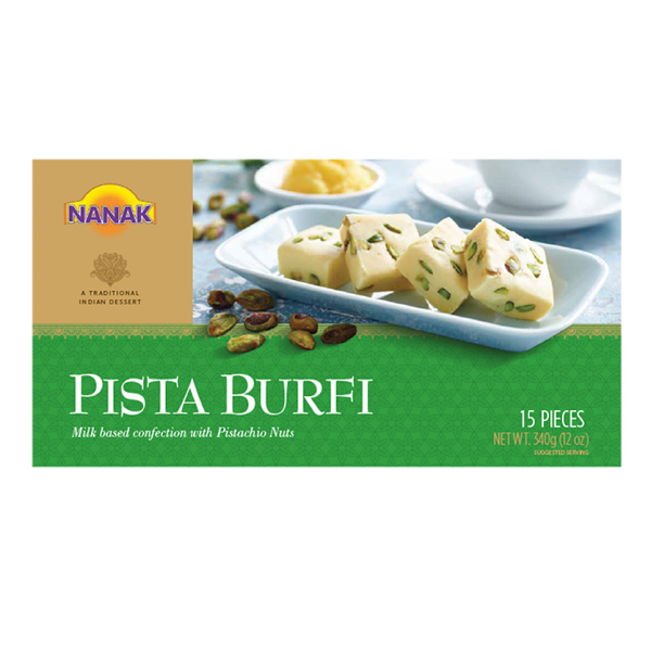 Nanak Pista Barfi 15 Pieces / 340 Gms