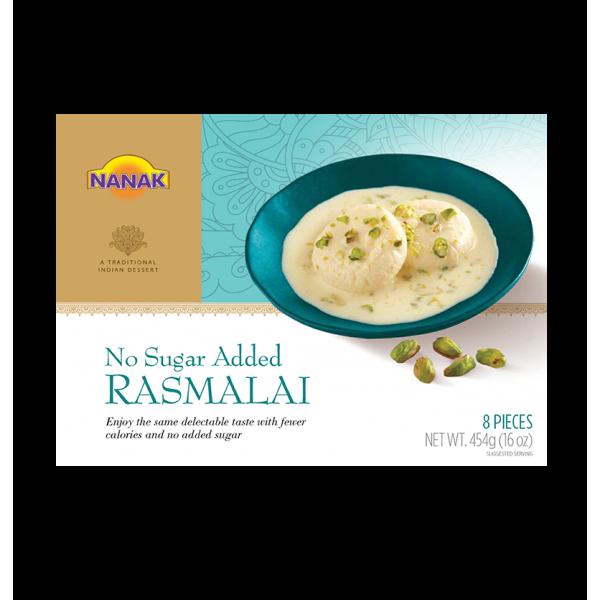Nanak Rasmalai No Sugar 8 Pieces / 454 Gms