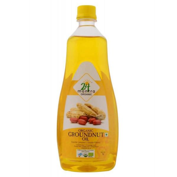 24 Mantra Organic Peanut Oil 33.1 Oz / 1000 ml