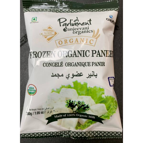Parliament Sanjeevani Organics Forzen Organic Paneer made of 100% Organic Milk 7.05 Oz / 200 Gms