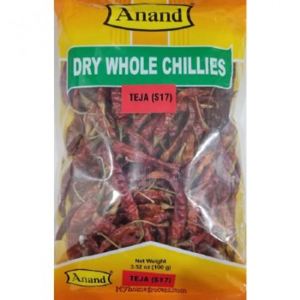Anand Dry Whole Chilli 7 Oz / 200 Gms