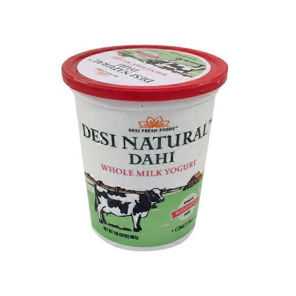 Desi Natural Dahi Whole Milk Yogurt 80 Oz / 2.27 KG