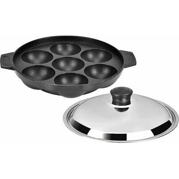 Appam Patra Non-stick cookware 12 cavity with lid /premium quality