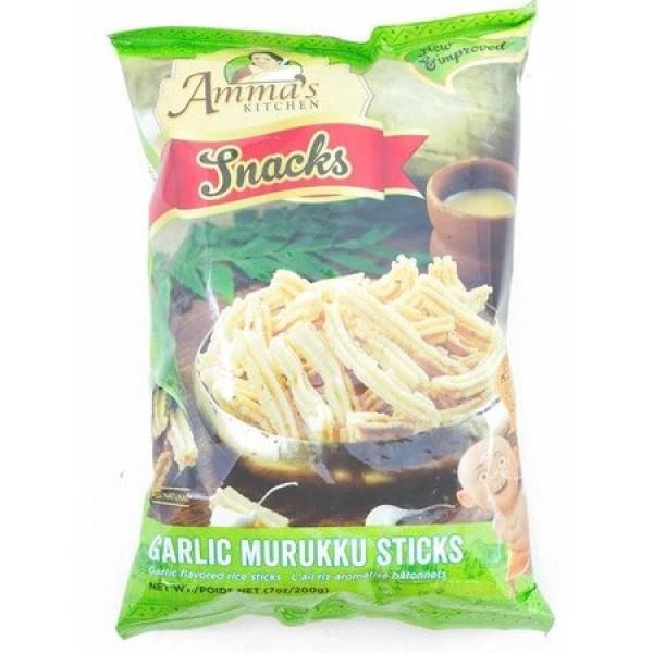 Amma's Kitchen Garlic Murukku Sticks 7 Oz / 200 Gms