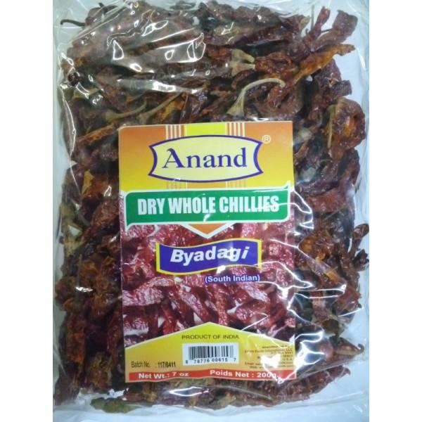 Anand Dry Whole Chilli K Byadgi 14.8 Oz / 200 Gms