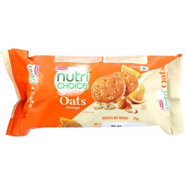Britannia Nutri Choice Oats Orange Cookies 75 Gms