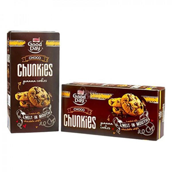 Britannia Good Day  Chunkies Chocolate Cookies 125 Gms