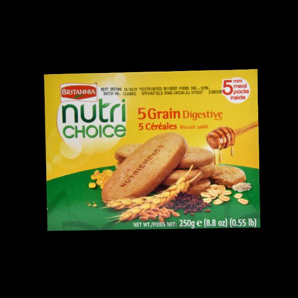Britannia Nutri Choice 5 Grain Biscuits  8.8 OZ / 250 Gms