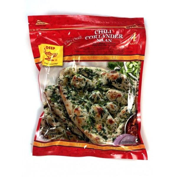 Deep Chilli Coriander Naan 4 Pieces