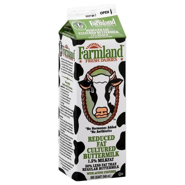 Farmland Reduced Fat Cultured buttermilk one quart/946 ML