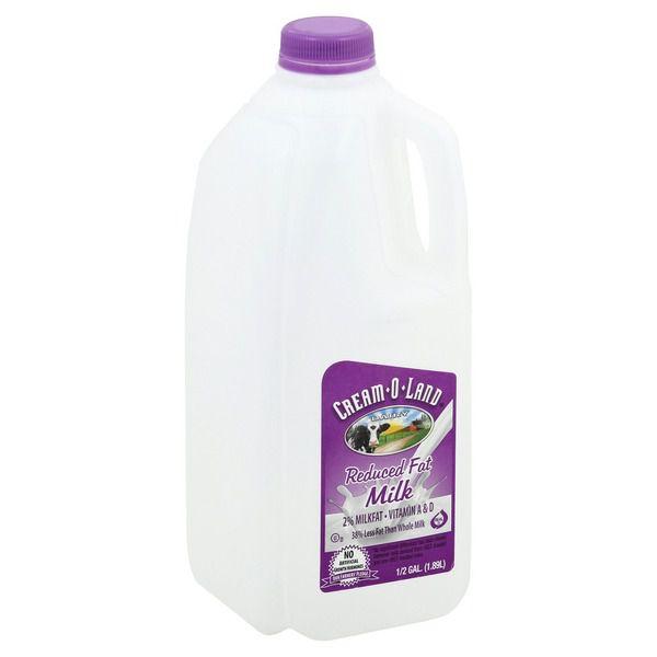 Cream-o-land Milk 2% - 1/2 Gallon