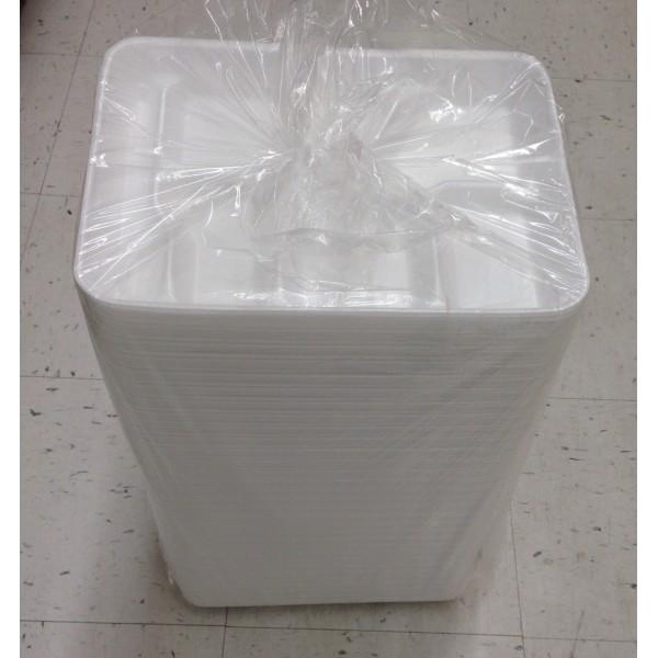 6 Compartments Foam Plate 14 OZ / 400 Gms