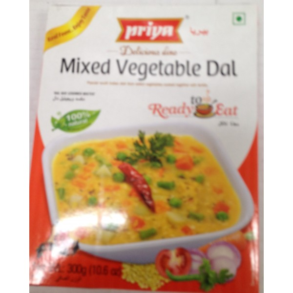 Priya Mixed Vegetable Dal 10.5 Oz / 300 Gms