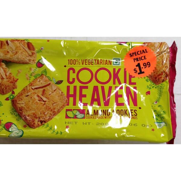 Cookie Heaven Almond Cookies 7 Oz / 200 Gms