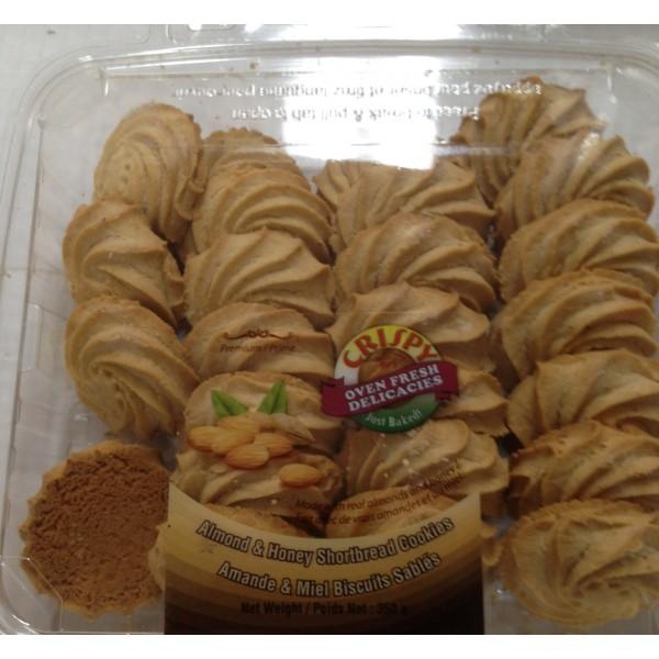 Crispy Almond & Honey Shortbread Cookies 12.34 Oz / 350 Gms