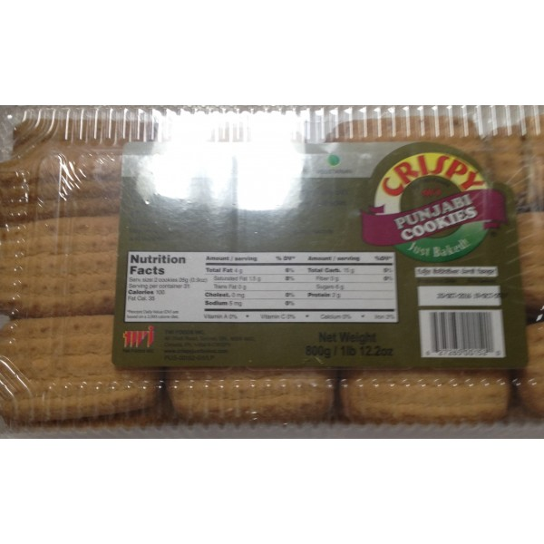 Crispy Punjabi Cookies  28 Oz / 800 Gms