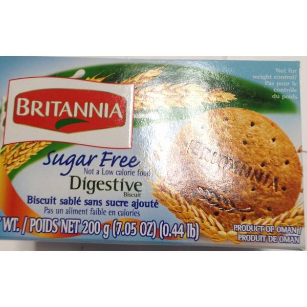 Britannia Digestive Sugar Free 7.05 Oz / 200 Gms