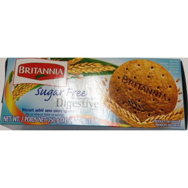 Britannia Digestive Sugar Free 12.34 Oz / 350 Gms