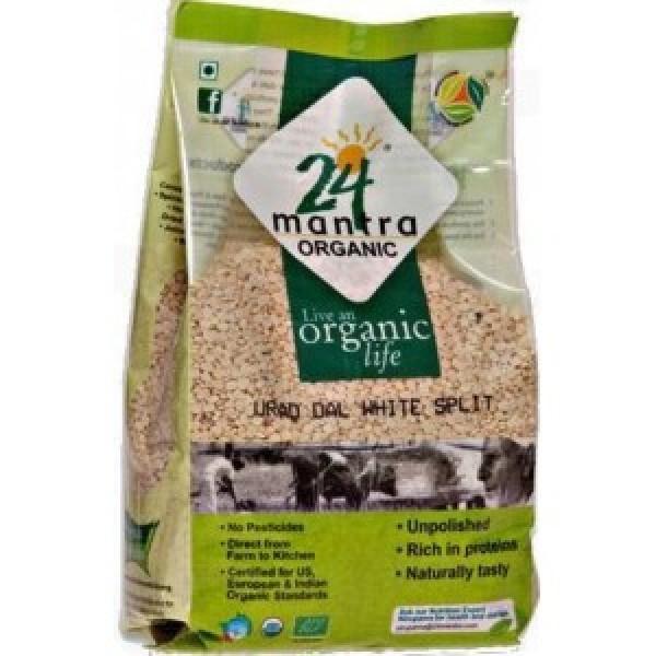 24 Mantra Organic Urad White Split 4 Lb / 1.8 Kg