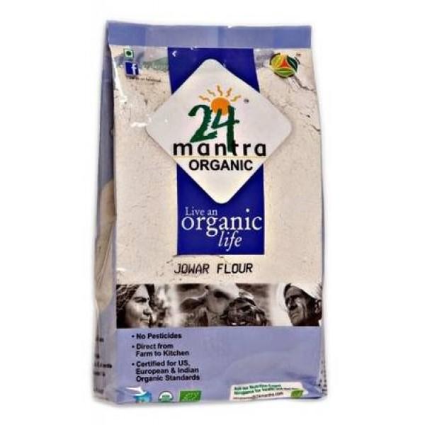 24 Mantra Organic Jowar Atta 2 Lb / 908 Gms