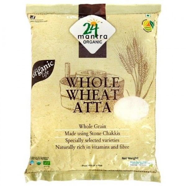 24 Mantra Organic Whole Wheat Atta 2.2 Lb