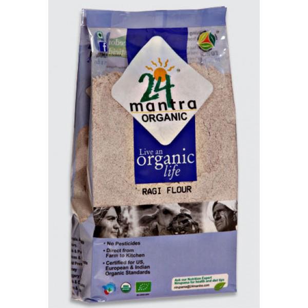 24 Mantra Organic Ragi Flour 2 Lb / 908 Gms