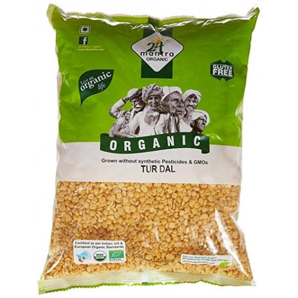24 Mantra Organic Toor Dal 2 Lb / 908 Gms