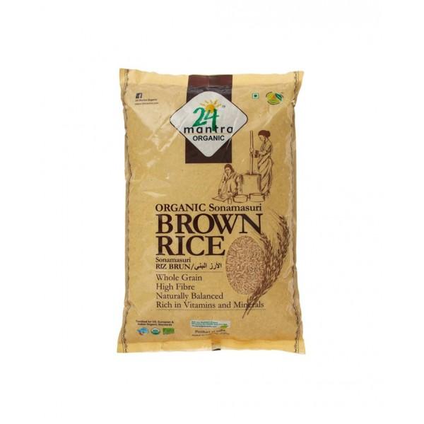 24 Mantra Organic Brown Sona Masoori  Rice 10lb