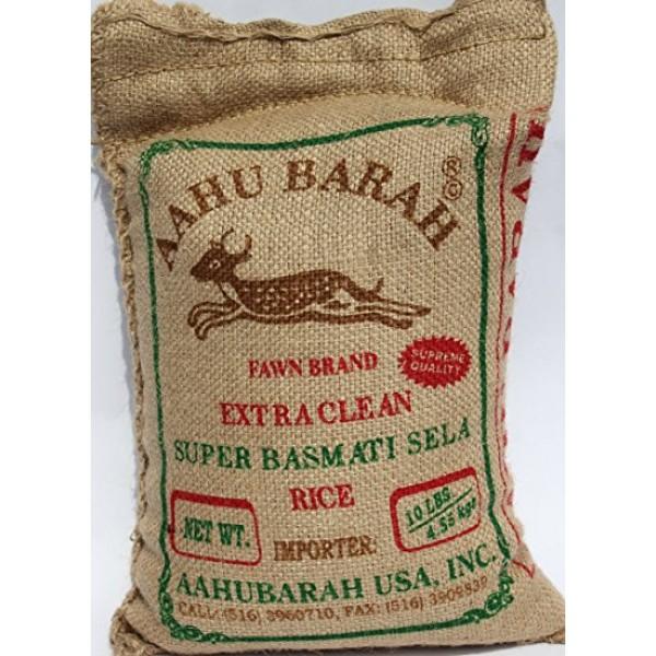 Aahu Barah Sela Basmati Rice 10lb