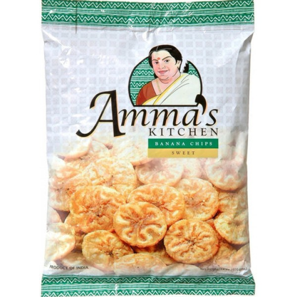Amma's Kitchen Banana Chips Sweet 14 Oz / 400 Gms